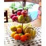 Fruteira Dupla Aço Cromado Cesto Fruta Mesa Bancada Cozinha