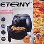 Fritadeira Sem Óleo Eterny Gourmet Air Fryer Elétrica Preta