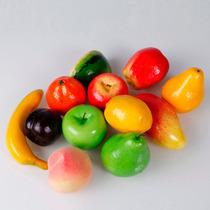Pacote 12 Frutas Artificiais - Decorativas Artificial Falsas