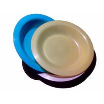 Prato Plastico Otimo Preço Varias Cores Kit Com 50 Unid.