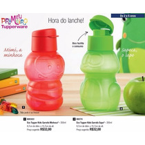 Tupperware Kit 4 Eco Tupper Kids 350ml - Com Bico Dosador