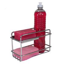 Porta Detergente - Sabão - Esponja Para Bancada Inox Polido