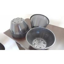 10 Pçs Vasos Plástico Preto