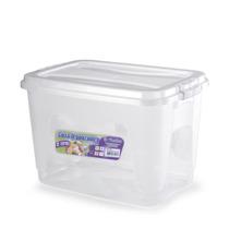 Caixa Organizadora Plástica 12 L Com Tampa Kit 3 Unidades