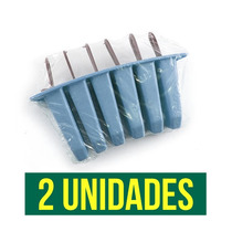 Kit Picoleteira 2 Fôrmas Para Picolé Plástic + Frete Grátis