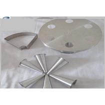 Forma Pizza Cone Com 6 Cones Em Aluminio