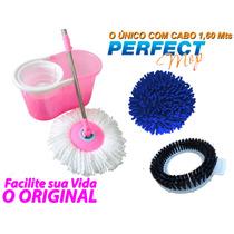 Balde Com Esfregão Com 3 Refis Perfect Mop 360 Twister Spin