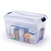 Kit 4 Caixas Plásticas Organizadoras Com Tampa 50 Litros