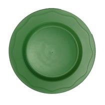 Prato Plastico Otimo Preço Cor Verde 50 Unidades.