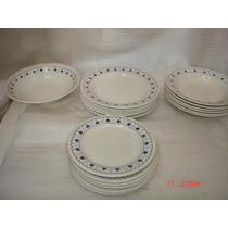 Lindo Conj.1 Travessa Redonda 18 Pratos Porcelana Oxford