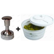 Mini Modelador Hambúrguer Secador Centrífuga Lavadora Salada