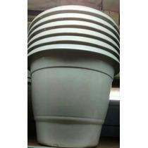 Vaso Para Plantas Plastico Redondo 21 Litros Branco