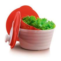 Tupperware Centrífuga Secadora De Salada - Vermelha E Branca