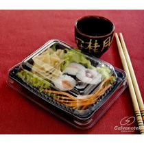 Embalagem Quadrada P/ Comida Japonesa Galvanotek Go900