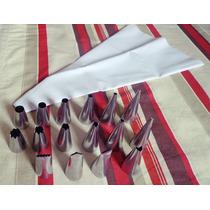 Bicos Para Confeitar Em Inox (kit Com 18 Peças)