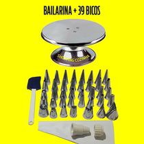 Bailarina Para Decorar Bolo+kit De Bicos P/ Confeitar 39 Pcs