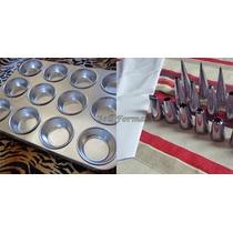 Forma Para Cupcake 12 Cavidades+bicos P/ Confeitar Kit 24 Pç