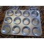 Kit Com 2 Formas Para Cupcake Com 12 Cavidades Em Alumínio