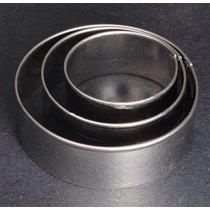 Molde De Metal Para Corte De Bolo Fondant Biscoito 3circulos