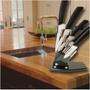Frete Gratis Kit 5 Facas Ceramica + Expositor Acrilico