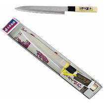 Faca Sushiman Sashimi Sushi Cabo Madeira Lâmina Aço Inox 8