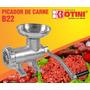 Moedor De Carne B22 C/ Prato Alumínio Disco 8mm Faca Cruzeta