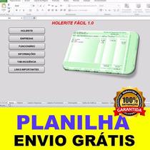 Planilha Para Impressão De Holerites / Contra Cheques Fácil