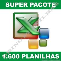 1600 Planilhas Em Excel ¿ Super Pacote 100% Editável