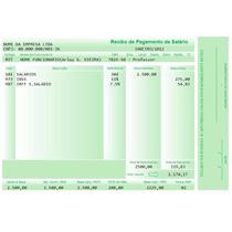 Planilha De Impressão De Holerite, Contra Cheque - Colorido