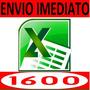 1600 Planilhas Prontas Excel Editáveis - Envio Grátis