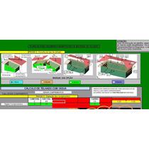 Lanilha Excel Cálculo De Materiais Em Telhados, Telhas E Ma