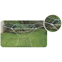 Varal De Chão Em Alumínio Com Cordas E Abas