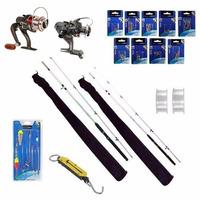 Kit 2 Varas Pesca 2,7m + 3,6m + Acessórios 181 Peças Pro Pw4