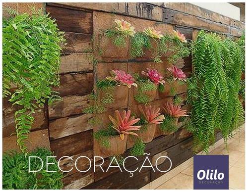 jardim vertical xaxim:Vaso Parede Fibra De Coco Xaxim Médio – Jardim Vertical