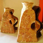Par De Vaso De Cerâmica Artesanal Lindo (c1g4)