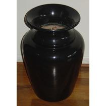 Vaso Ceramica Laqueado Preto Altura 58cm. Para Chão Fr/aret