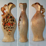Vasos Decorativos De Pedraria Dourado Para Enfeitar +barato