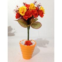 Arranjo Mini De Rosas Artificiais Em Vaso