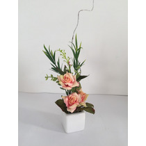 Arranjo Mini De Flores Artificiais Com Rosas