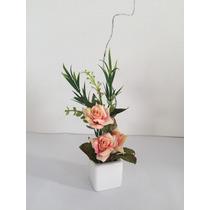 Arranjo Mini De Flores Artificiais Com Rosas