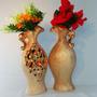 Vasos Decoração Arranjo Enfeite De Pedraria Luxo +barato