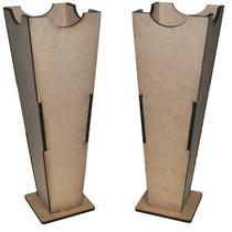 Kit Com 02 Vasos De Chão Em Mdf 60x20x20 Decoração Provençal