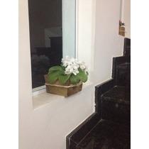 Floreira Vaso Cachepô Em Madeira Com Laço De Sisal