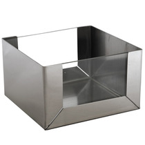 Cachepô Quadrado Cacto 7x10x10cm Inox Polido E Vidro