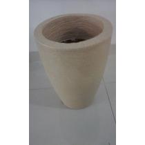 Vaso Plastico Chão Com Textura Em Grafiato Para Plantas