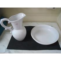 #6826# Jarro E Bacia De Porcelana Branca!!!