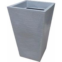 Vaso Trapézio Rústico Para Plantar Cor Granito Bg1-004