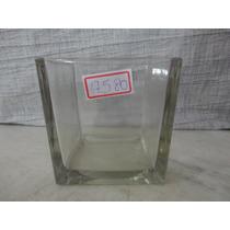 #17580 - Vaso Vidro Quadrado Transparente!!!