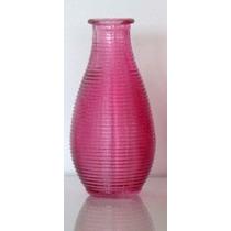 Vaso Garrafa Decorativo De Vidro Rosa Para Decoração Festa
