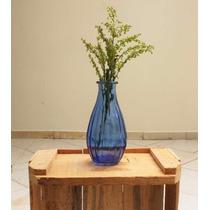 Vaso Decorativo De Vidro Azul - Conjunto Com 20 Vasos